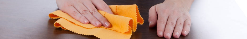 Cleaning wood with microfiber cloth