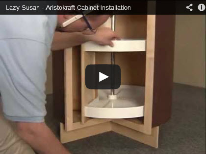 Lazy susan cabinet installation video