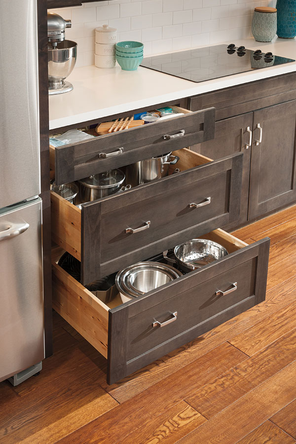 Three Drawer Base Cabinet