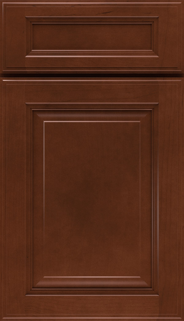 Briarcliff II 5-piece Maple raised panel cabinet door in Cafe
