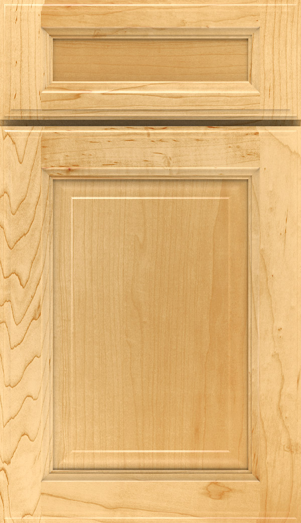 Briarcliff II 5-piece Maple raised panel cabinet door in Natural