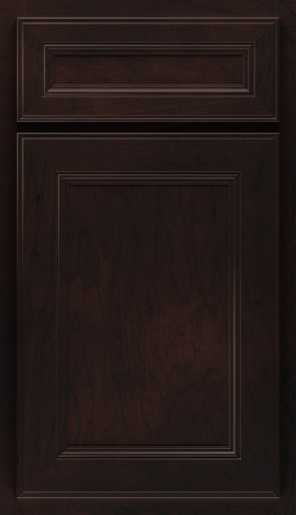 Landen 5-Piece Maple flat panel cabinet door in Sarsaparilla