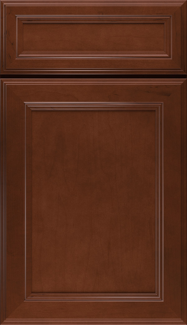 Wentworth 5-piece Maple flat panel cabinet door in Cafe