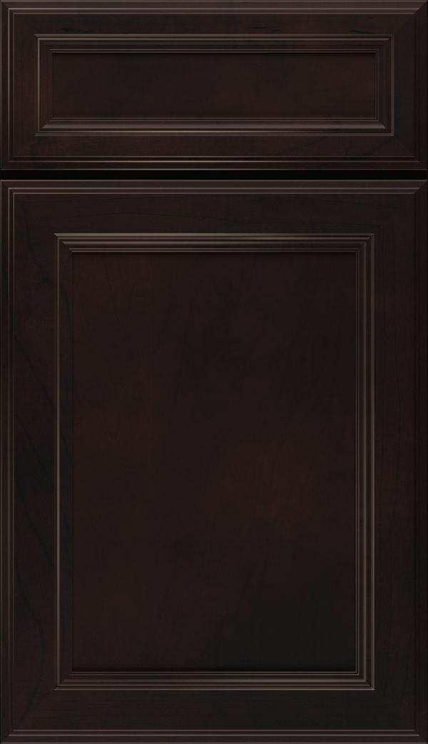 Wentworth 5-piece Maple flat panel cabinet door in Sarsaparilla