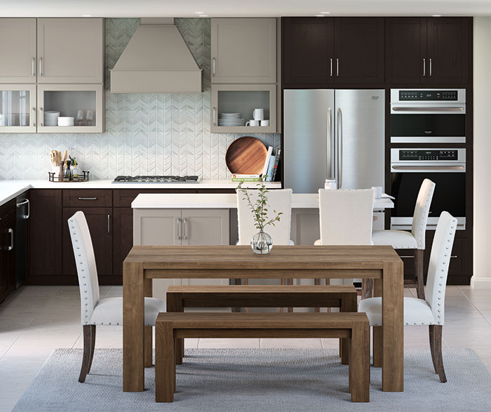 casual_gray_and_textured_woodtone_purestyle_kitchen_cabinets