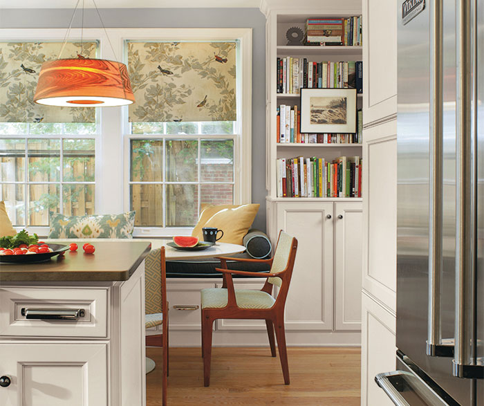 Laminate cabinets in casual kitchen by Aristokraft Cabinetry