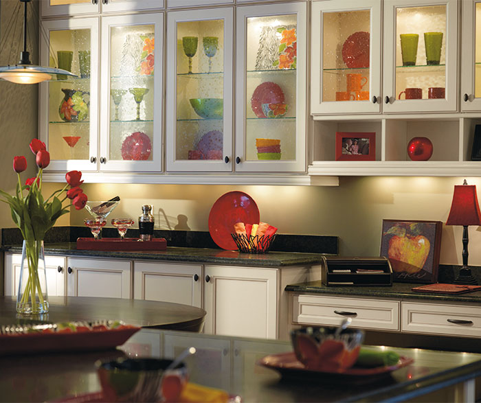 Laminate kitchen cabinets by Aristokraft Cabinetry