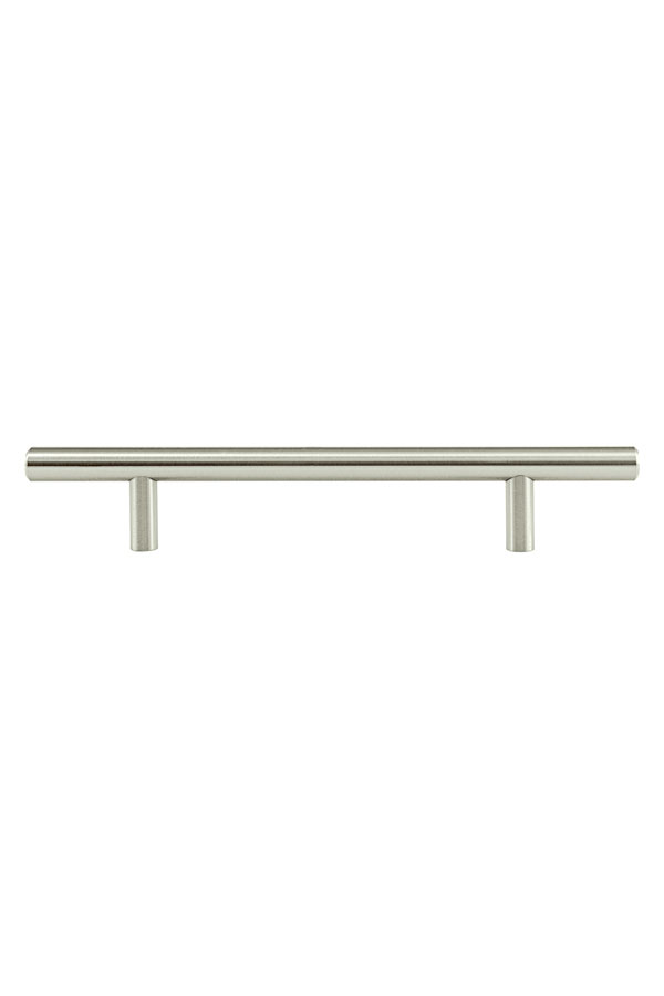 Brushed satin nickel cabinet pull h350 aristokraft for Brushed nickel hardware for kitchen cabinets