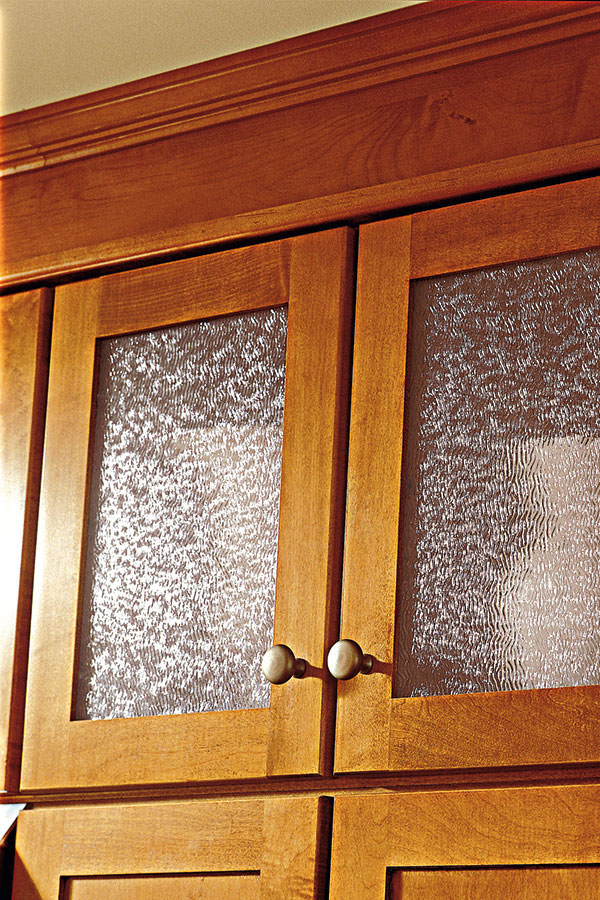Wall Cabinet Cut for Glass