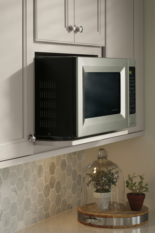 Microwave wall open shelf