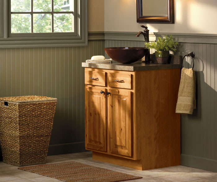 Rustic bathroom cabinets