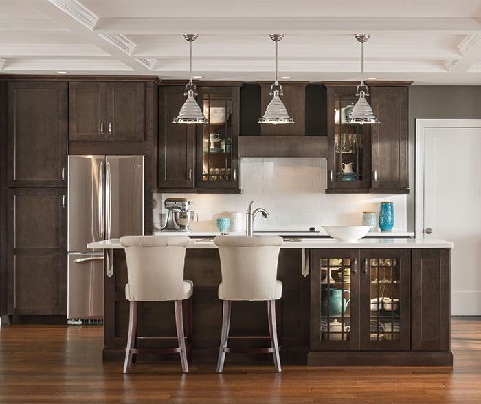 Dark gray kitchen cabinets by Aristokraft Cabinetry