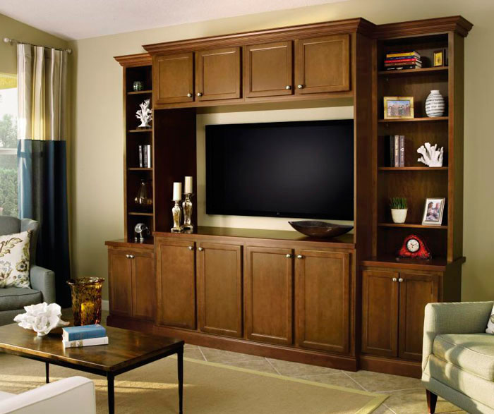 Living room cabinet in Birch wood by Aristokraft Cabinetry